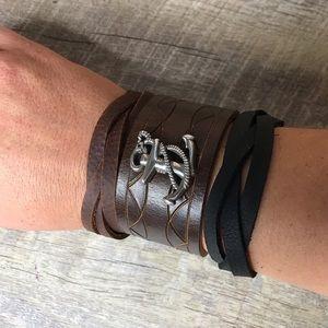 Nautical Leather Cuff